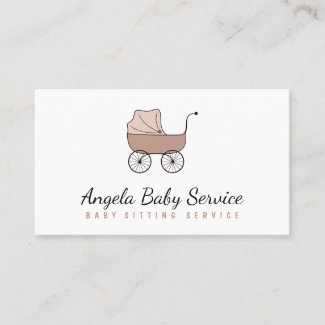 Stroller Baby sitter Daycare Nursery Business Card