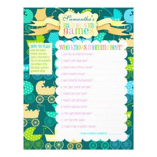 "Stroller Chic ""Baby Shower Games"" Activity Sheet"