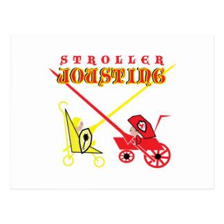 Stroller Jousting Postcard