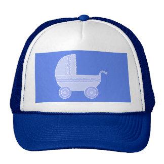 Stroller. Light Blue on Mid Blue. Trucker Hat