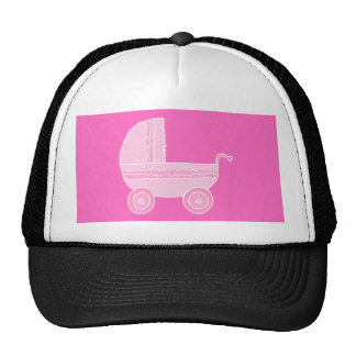 Stroller. Light Pink and Bright Pink. Trucker Hat