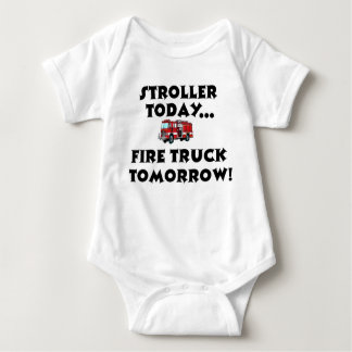 Stroller today...Firetruck tomorrow! Baby Bodysuit