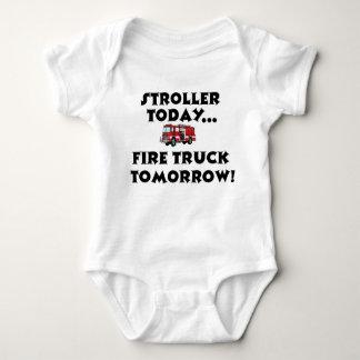 Stroller today...Firetruck tomorrow! Shirt