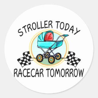 Stroller Today, Racecar Tomorrow Stickers