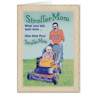 StrollerMow birthday Card