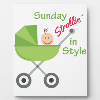 Strollin In Style Display Plaque