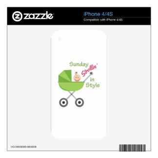 Strollin In Style iPhone 4 Skin