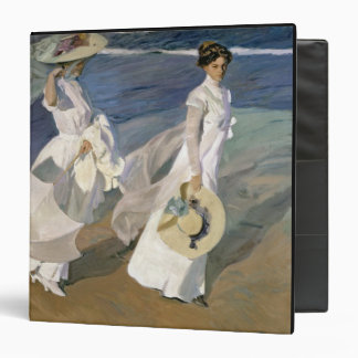 Strolling along the Seashore, 1909 3 Ring Binder
