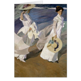 Strolling along the Seashore 1909 Greeting Cards