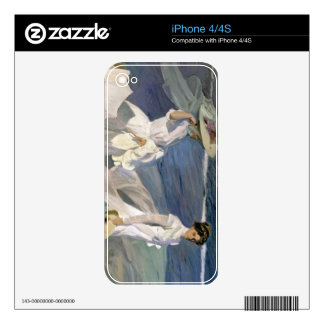 Strolling along the Seashore, 1909 Decals For iPhone 4S