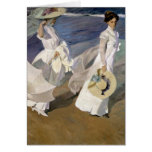 Strolling along the Seashore, 1909 Greeting Cards