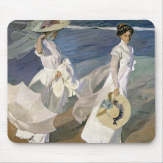 Strolling along the Seashore, 1909 Mouse Pad