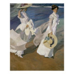 Strolling along the Seashore, 1909 Poster