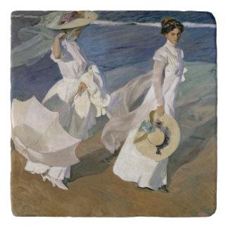 Strolling along the Seashore, 1909 Trivets