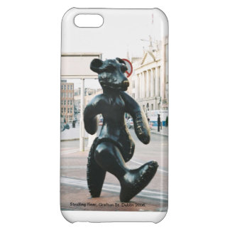 Strolling Bear, Dublin Ireland iPhone case