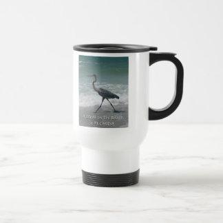 Strolling Blue Heron Travel Mug