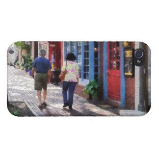 Strolling Down King Street Alexandria VA iPhone 4 Covers