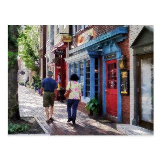 Strolling Down King Street Alexandria VA Postcard