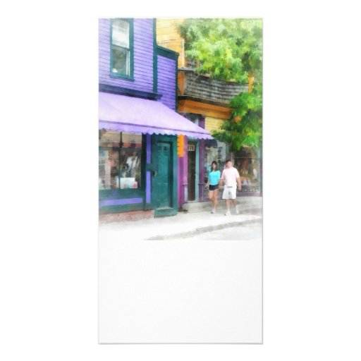 Strolling Down Thames Street Newport RI Picture Card