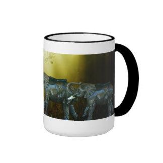 Strolling Elephants Mug