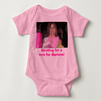 Strolling for a cure for Marlene! Baby Bodysuit