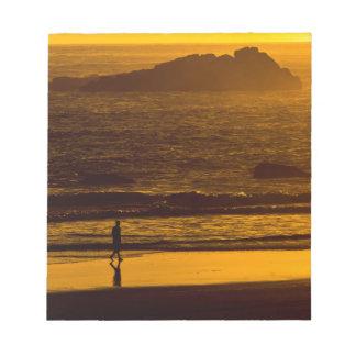 Strolling Harris Beach At Sunset - Oregon Notepad