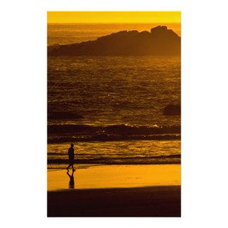 Strolling Harris Beach At Sunset - Oregon Stationery