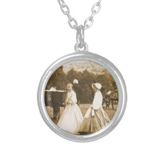 Strolling on the Battlefield Silver Plated Necklace