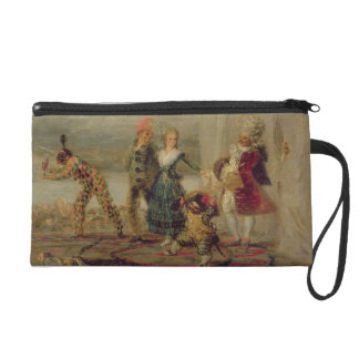 Strolling Players, 1793 (oil on tin plate) Wristlet Clutches