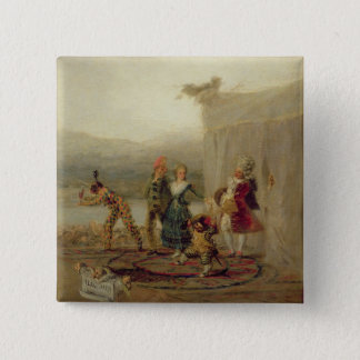 Strolling Players, 1793 (oil on tin plate) Button