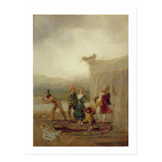 Strolling Players, 1793 (oil on tin plate) Postcard