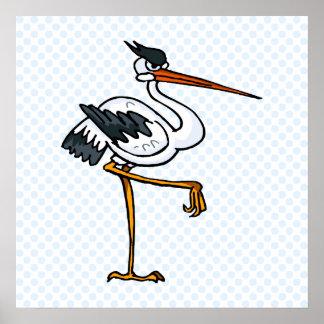 Strom Stork Poster