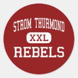 Strom Thurmond - rebeldes - alto - Johnston Etiqueta Redonda