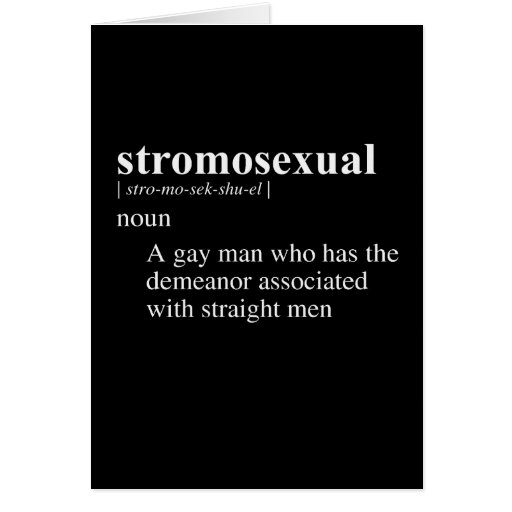 STROMOSEXUAL DEFINITION GREETING CARD