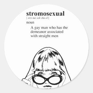 STROMOSEXUAL ETIQUETA REDONDA