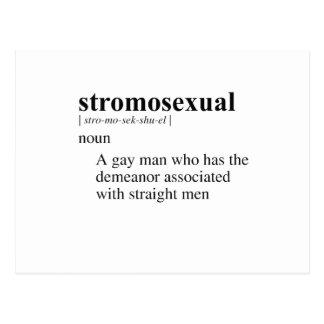 STROMOSEXUAL TARJETA POSTAL