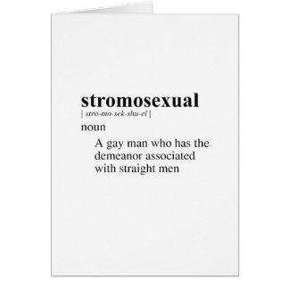 STROMOSEXUAL TARJETON