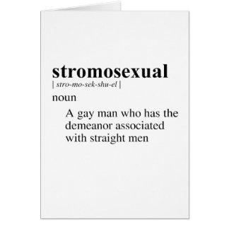STROMOSEXUAL TARJETÓN