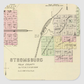 Stromsburg, Nebraska Pegatina Cuadrada