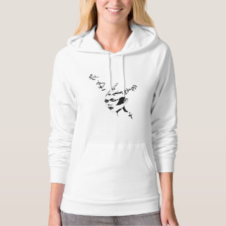 Strong active woman hoodie