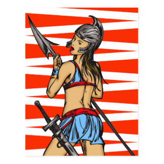 Strong Amazon Women Post Card