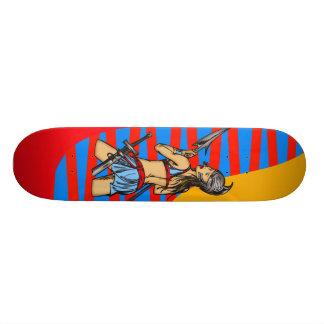 Strong Amazon Women Custom Skateboard