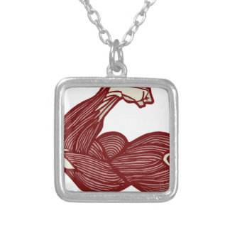 Strong Arm Silver Plated Necklace