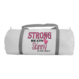 STRONG BEATS Skinny everyday! Pink Boxing Gloves Gym Duffel Bag