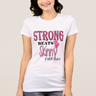 STRONG BEATS Skinny everyday! Pink Boxing Gloves T-Shirt