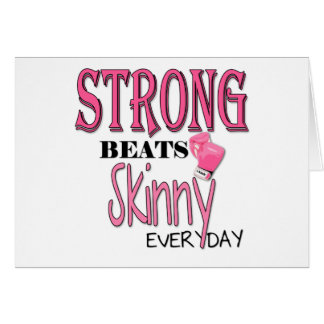 STRONG BEATS Skinny everyday! W/Pink Boxing Gloves Card