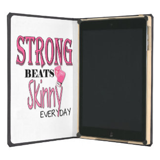 STRONG BEATS Skinny everyday! W/Pink Boxing Gloves Case For iPad Air