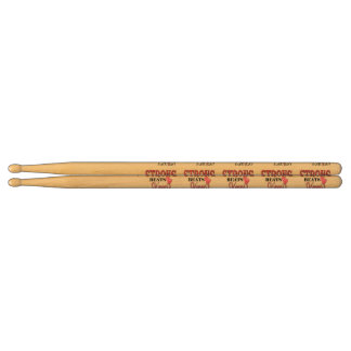 STRONG BEATS Skinny everyday! W/Pink Boxing Gloves Drum Sticks