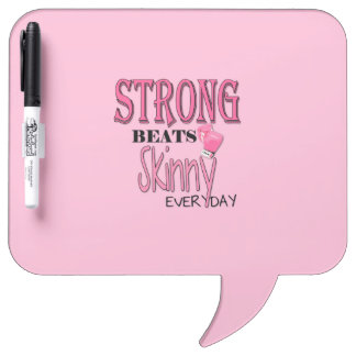 STRONG BEATS Skinny everyday! W/Pink Boxing Gloves Dry Erase Whiteboards