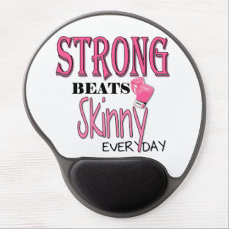 STRONG BEATS Skinny everyday! W/Pink Boxing Gloves Gel Mouse Pad